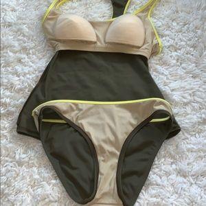 Victoria's Secret Swim - Victoria secret tankini two pice swimsuit army